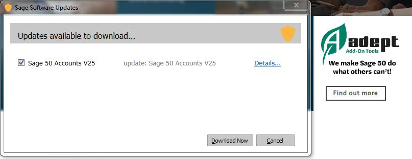 Sage v25 Update