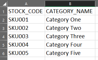 Product & BOM CSV Import Category